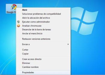 Google Chrome - Acceso directo propiedades