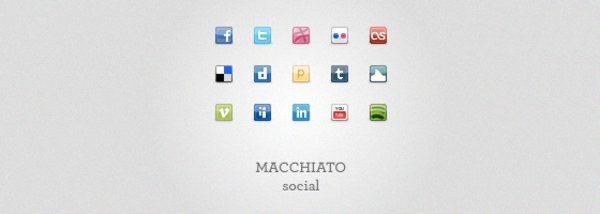 Machiato Social Icons Set