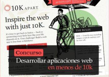 Desarrollar aplicaciones web en menos de 10k