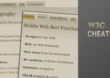 W3C Cheatsheet - servicio online