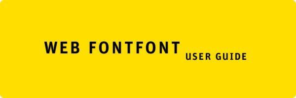 Web fontfont - user guide