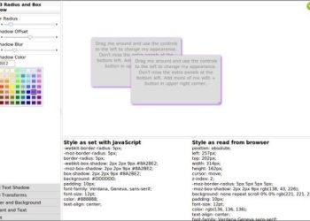 CSS3 Playground - interfaz