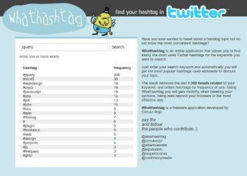 Whathashtag - resultados búsqueda