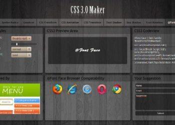 CSS 3.0 Maker - Interfaz