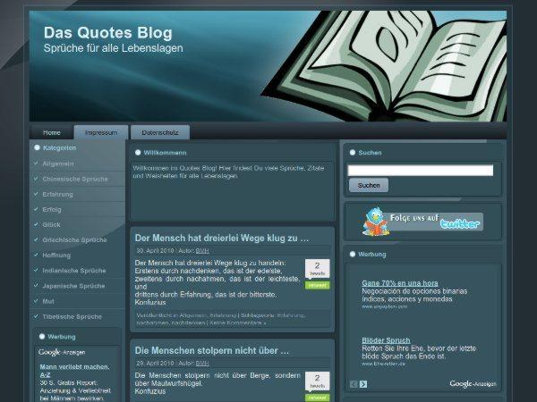 Quotes-free-WordPress-theme