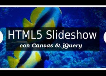 Slideshow HTML5 con Canvas y jQuery