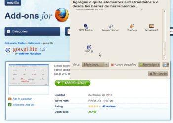 Extension Firefox para acortar direcciones usando el servicio de Google