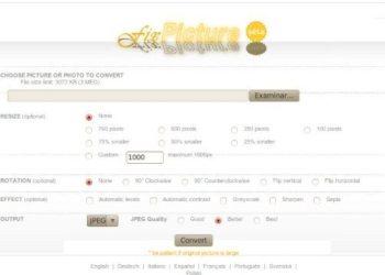 Fix Picture - editor de imagenes online versión HTML