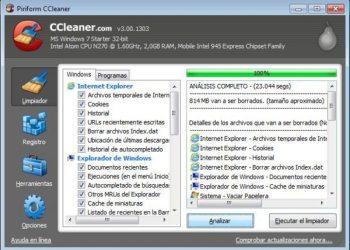 CCleaner Piriform - Limpiador de archivos temporales