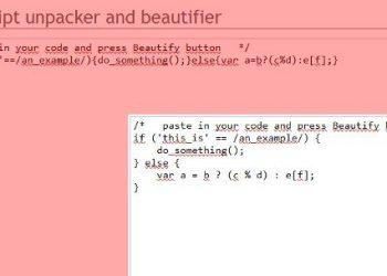 Javascript-unpacker-and-beautifier - Servicio web