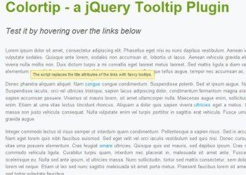ColorTip plugin jQuery - demo