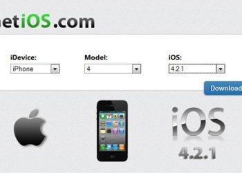 GetiOS - servicio web para descargar los firmware de Apple