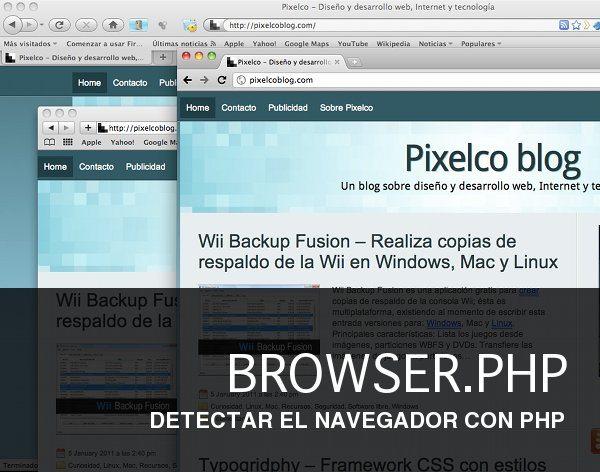 BROWSER PHP BROWSER.PHP Detectar el navegador con PHP