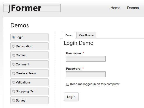 jFormer framework para desarrollar formularios HTML Crea formularios HTML con jFormer, framework PHP, Javascript y CSS