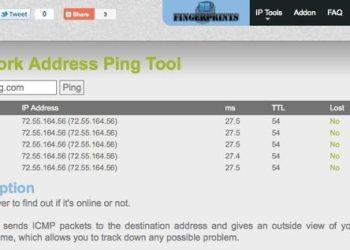 Network Address Ping Tool - Herramienta online para hacer Ping un host