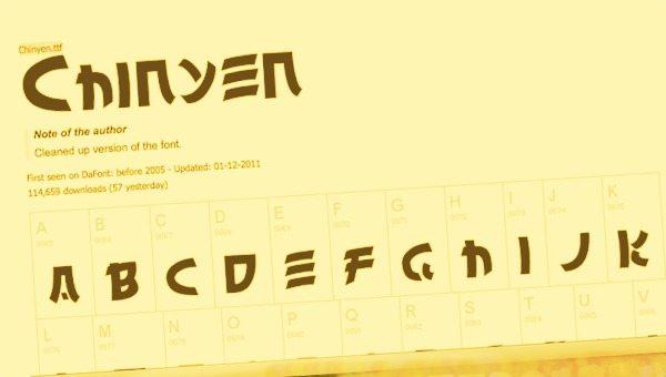 Chinyen free font