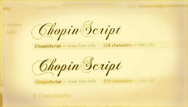 ChopinScript free font