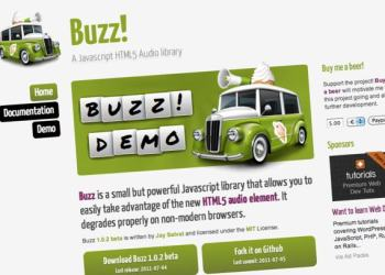 Buzz! - Javascript HTML5 audio library