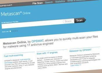 Metascan Online - herramienta para escaner archivos