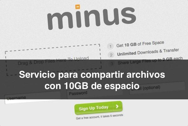 Minus servicio para compartir archivos