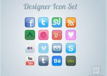Social Icon Set - Colección de iconos de redes sociales gratuita