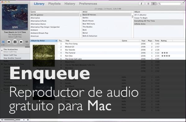 Enqueue reproductor de audio gratuito para Mac