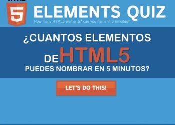 Cuántos elementos de HTML5 puedes nombrar en 5 minutos