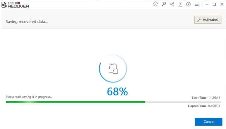 Remo Recover Software- Captura de pantalla