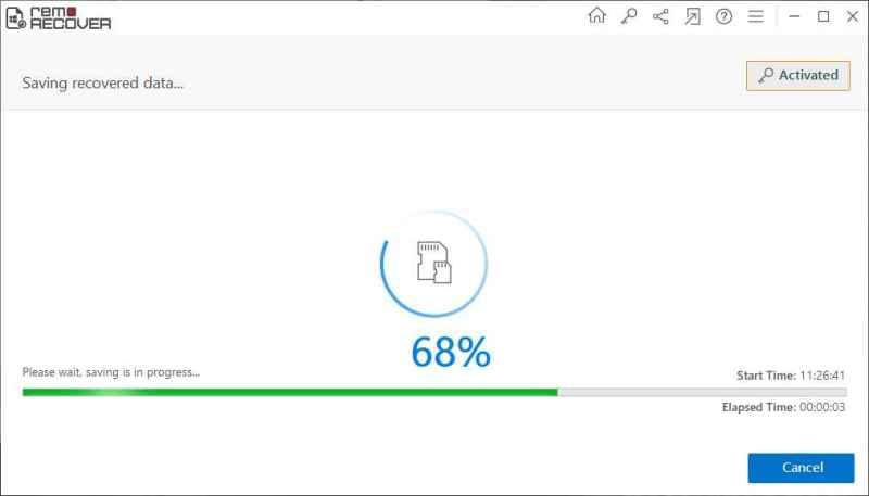Remo Photo Recover Software- Captura de pantalla