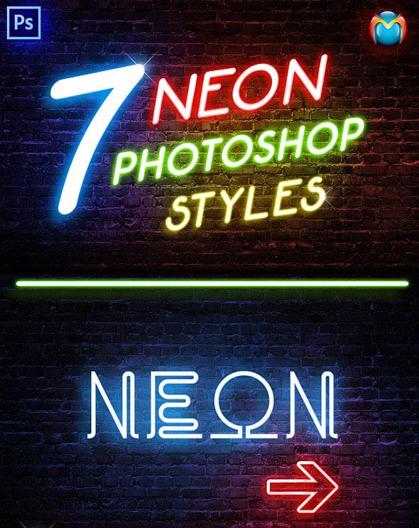 Neon Text Effect Photoshop : effect, photoshop, Realistic, Photoshop, Effects, Pixel, Curse