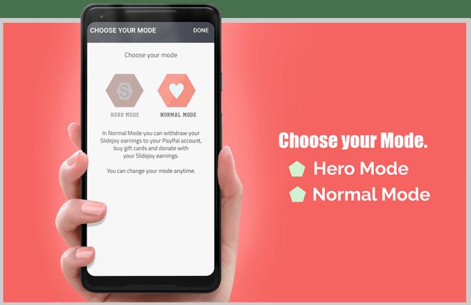 SlideJoy App Mode