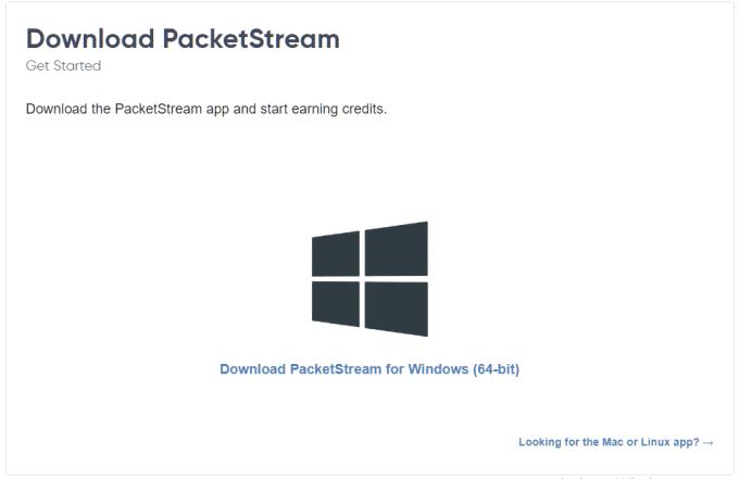 Download PacketStream
