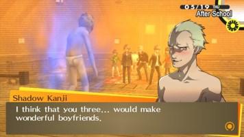 Zwar wird die Homosexualität von Kanji Tatsumi nie explizit ausformuliert, jedoch überdeutlich impliziert.