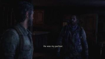 """Bill in """"The Last of us"""" ist ein homosexueller Überlebender, der herausfindet, dass sein Partner Frank sich erhängt hat. In der Szene versucht er seine Trauer zu unterdrücken."""