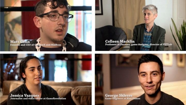 Die Interviewten stammen aus verschiedenen Bereichen der Spielebranche, des Journalismus und der Spielergemeinschaft und bringen vielfältige Ansätze zur Diskussion mit.