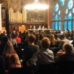 """Podiumsdiskussion """"Perspektiven auf ein wissenschaftsfreundliches Urheberrecht """" in der alten Aula"""