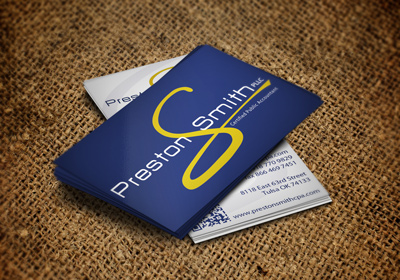 Preston Smith CPA Business Cards