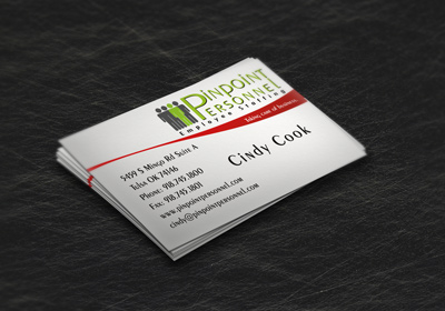 Pinpoint Personnel Business Cards