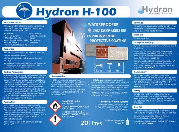 H100-Label-20L