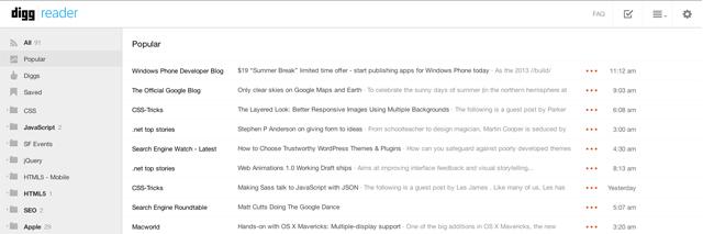 Digg Reader Screenshot