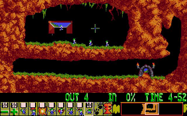 Il primo livello del gioco (Amiga)