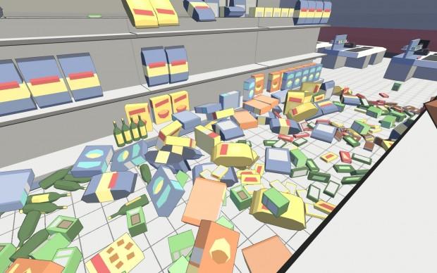 uno dei livelli bonus del gioco: il supermercato.