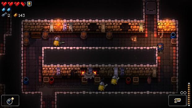 Non solo proiettili: alcune stanze hanno ostacoli ulteriori, dai pozzi senza fondo alle seghe rotanti sui muri.