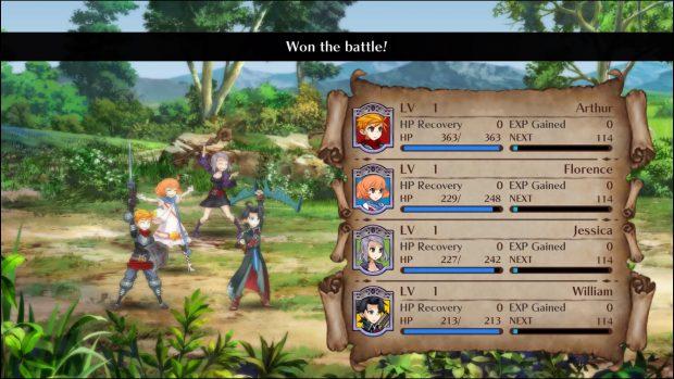 Come in ogni JRPG che si rispetti, al termine di ogni battaglia potrete ammirare i personaggi esultanti coi punti esperienza che salgono.