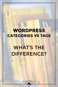 WordPress categories vs tags