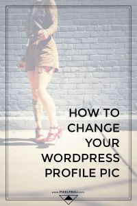 how to change your wordpress profile picture