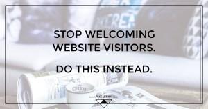 website welcome message