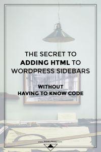 adding HTML to WordPress