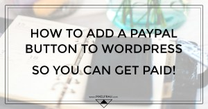 add paypal button to wordpress