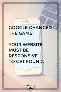 google mobile responsive website